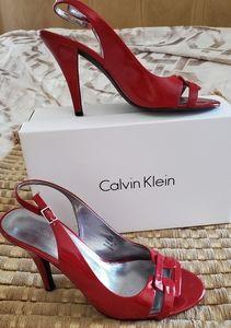 Calvin Klein slingback open toe pumps